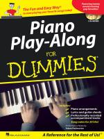 Piano Play-Along For Dummies Sheet Music