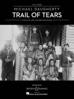 Michael Daugherty - Trail Of Tears Flute And Chamber Orchestra Sheet Music