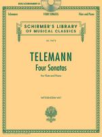 Georg Philipp Telemann - Four Sonatas For Flute And Piano With A CD Of Piano Accompaniment Sheet Music