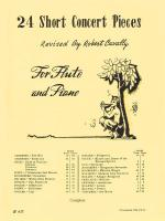 24 Short Concert Pieces For Flute And Piano Piano Accompaniment Sheet Music