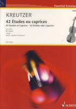 Schott Kreutzer 42 Etudes Violin Sheet Music