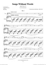 Songs Without Words Op. 19, Book I Sheet Music