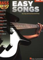 Hal Leonard Bass Play Along Easy Songs Sheet Music