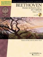 Ludwig Van Beethoven: Piano Sonata No.1 In F Minor Op.2 No.1 (Schirmer Performance Edition) Sheet Music