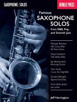 Famous Saxophone Solos - From R&B, Pop And Smooth Jazz Sheet Music