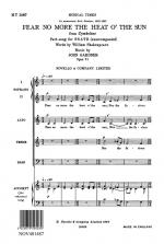 John Gardner: Fear No More The Heat O' The Sun (Cymbeline) Op.71 Sheet Music