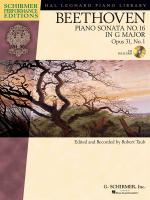 Ludwig Van Beethoven: Piano Sonata No.16 In G Op.31 No.1 (Schirmer Performance Edition) Sheet Music