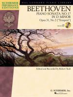 Ludwig Van Beethoven: Piano Sonata No.17 In D Minor Op.31 No.2 Tempest (Schirmer Performance Editi Sheet Music