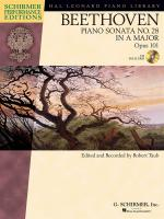 Ludwig Van Beethoven: Piano Sonata No.28 In A Op.101 (Schirmer Performance Edition) Sheet Music