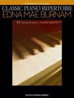 Classic Piano Repertoire - Edna Mae Burnam (Intermediate To Advanced Level) Sheet Music