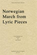 Edvard Grieg: Norwegian March (Lyric Pieces) - String Quartet Score Sheet Music