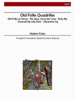 Old Folks Quadrilles Sheet Music