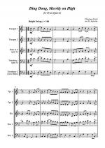 Ding Dong Merrily on High - Jazz Carol for Brass Quartet Sheet Music