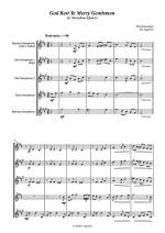 God Rest Ye Merry Gentlemen - for Saxophone Quartet Sheet Music