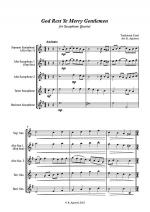 God Rest Ye Merry Gentlemen - Jazz Carol for Saxophone Quartet Sheet Music