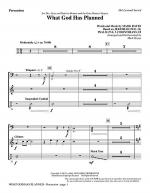 What God Has Planned - Percussion Sheet Music