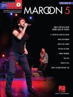 Pro Vocal Men's Edition Volume 28: Maroon 5 Sheet Music