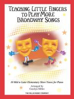 Teaching Little Fingers to Play More Broadway Songs (Book/CD) Sheet Music