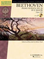 Ludwig Van Beethoven: Piano Sonata No.30 In E Op.109 (Schirmer Performance Edition) Sheet Music