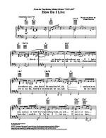How Do I Live Sheet Music