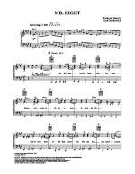 Mr. Right Sheet Music