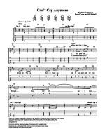 Can't Cry Anymore Sheet Music