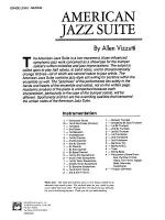 American Jazz Suite: Score Sheet Music