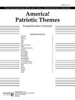 America! Patriotic Themes (as played at Disney World): Score Sheet Music