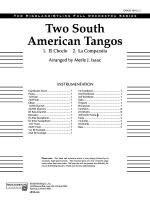 Two South American Tangos: Score Sheet Music