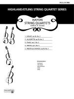 Haydn String Quartets: Score Sheet Music