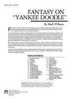 Fantasy on Yankee Doodle: Score Sheet Music