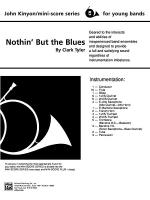 Nothin' but the Blues: Score Sheet Music