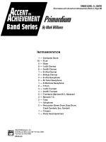 Primordium: Score Sheet Music
