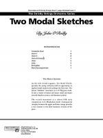Two Modal Sketches: Score Sheet Music