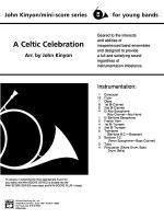 A Celtic Celebration: Score Sheet Music