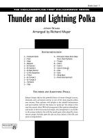 Thunder and Lightning Polka: Score Sheet Music