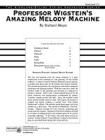 Professor Wigstein's Amazing Melody Machine: Score Sheet Music