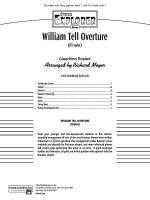 William Tell Overture: Score Sheet Music