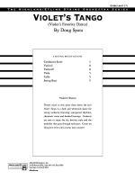 Violet's Tango: Score Sheet Music
