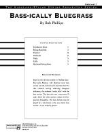 Bass-ically Bluegrass: Score Sheet Music