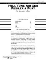 Folk Tune Air and Fiddler's Fury: Score Sheet Music