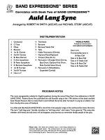 Auld Lang Syne (A Holiday Farewell for Band): Score Sheet Music