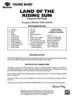 Land of the Rising Sun (A Japanese Folk Trilogy): Score Sheet Music