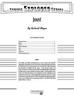 Joust: Score Sheet Music