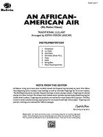 An African-American Air: Score Sheet Music