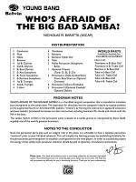 Who's Afraid of the Big Bad Samba?: Score Sheet Music