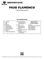 Paso Flamenco: Score Sheet Music