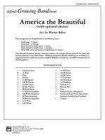 America, the Beautiful (with optional SA/SAB chorus): Score Sheet Music