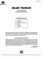 Blue Tango: Score Sheet Music
