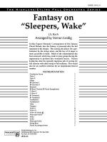 Fantasy on Sleepers, Wake: Score Sheet Music